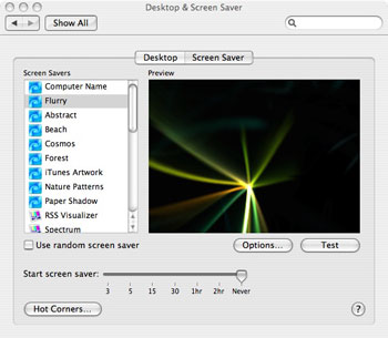 Mac Screen Saver Settings